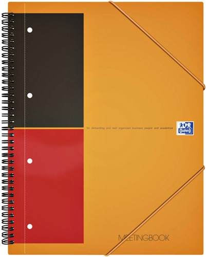 Spiraalblok Oxford International Meetingbook A4+ lijn