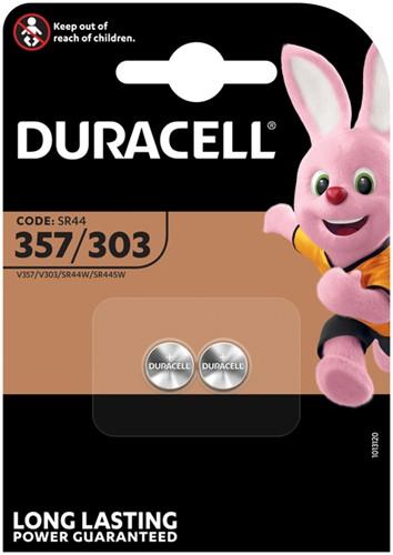 Batterij Duracell knoopcel 2x357/303 zilver oxide Ø11,6mm 2 stuks