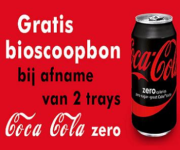 Gratis bioscoopbon bij Coca-Cola Zero