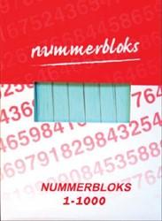 Nummer-/garderobebloks kleur