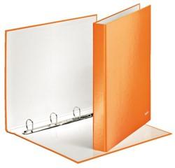 Ringband Leitz WOW A4 4-rings D-mech 25mm karton oranje