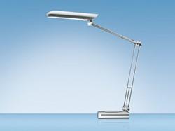 Bureaulamp Hansa met spaarlamp Ecolux zilver
