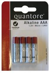 Batterij Quantore AAA pak a 4stuks