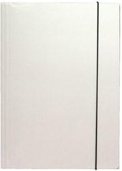 Elastomap folio 3 kleppen wit
