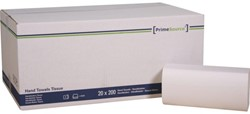 Handdoek PrimeSource Midi zigzag 2laags 23x25cm wit 20x200st