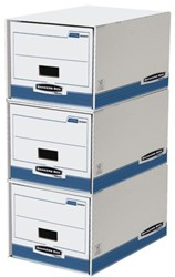 Archieflade Bankers Box System A4 wit blauw