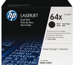 Tonercartridge HP CC364XD 64X zwart 2x HC