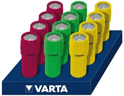 Zaklamp Varta Led light met 3xAAA batterijen display 12stuks