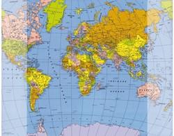 Onderlegger Kangaro 40x50cm basic wereldkaart