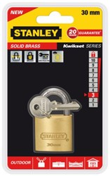 Hangslot Stanley messing 30mm