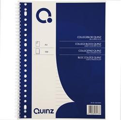 Collegeblok Quinz A4 lijn 23-rings 70gram 100 vel