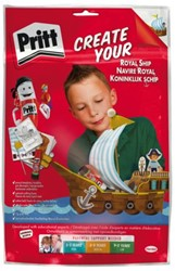 Knutsel Pritt crafting kit schip