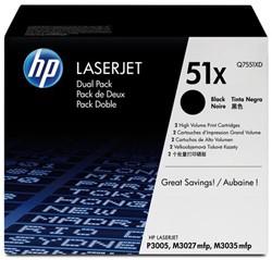 Tonercartridge HP Q7551XD 51X zwart 2x HC