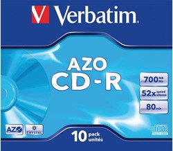 CD-R Verbatim 700MB 80min 52X jewelcase