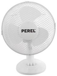 Tafelvenilator Perel Ø30cm wit