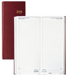 Agenda 2018 Saturnus lang 1 dag/2 pagina bordeaux