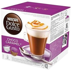 Chocolade Dolce Gusto Choco Caramel 16 cups voor 8 kopjes