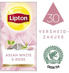 Thee Lipton Exclusive Aziatisch wit+rozen 30 piramidezakjes