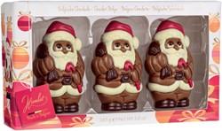 Chocolade Hamlet set van 3 Kerstman figuren