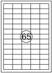 Etiket Quantore 38x21.2mm 1625stuks