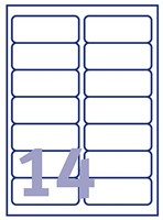 Etiket Avery L7063-20 99.1x38.1mm polyester wit 280stuks-2