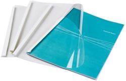 Thermische omslag GBC A4 10mm transparant/wit 100stuks