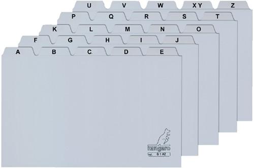 Alfabet HF2 85x105mm PP grijs