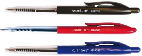 Balpen Quantore drukknop rood medium-2