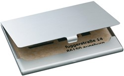 Visitekaartenhouder Sigel VZ135 mat zilver